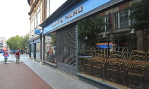 A branch of Caffe Nero in Leicester: 'This is a moment of maximum danger for the economy.'