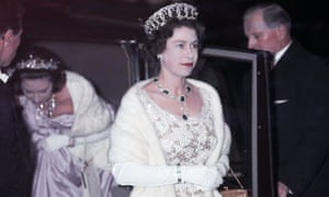 Queen Elizabeth II and Princess Margaret attend the premiere of West Side Story at the Odeon Cinema in Leicester Square, London, February 1962.