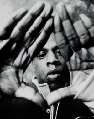 "Jay-Z, New York City, 2003. Says photographer Armen Djerrahan: ""This pose with the diamond symbol was synonymous with the Roc-A-Fella family and has become one of my best-known shots. But when Jay threw the sign initially, I was almost annoyed because it hid most of his face. I knew that if I didn't have Jay's face, it wouldn't make the cover of a magazine, so I made sure I at least got his eye in there or something."""