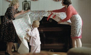 The ad depicts a young Elton John receiving a piano for Christmas