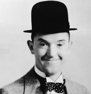 Head shot of comedian Stan Laurel