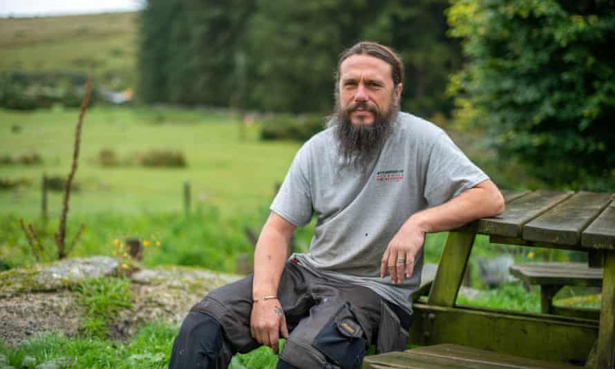Martin Jones sitting at park bench