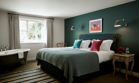 Double bedroom at The Stump, near Cirencester, Gloucestershire.