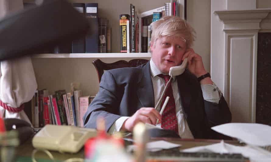 JOURNALIST BORIS JOHNSON(Original Caption) The Telegraph journalist and editor of the New Statesman, Boris Johnson. (Photo by Neville Elder/Corbis via Getty Images)