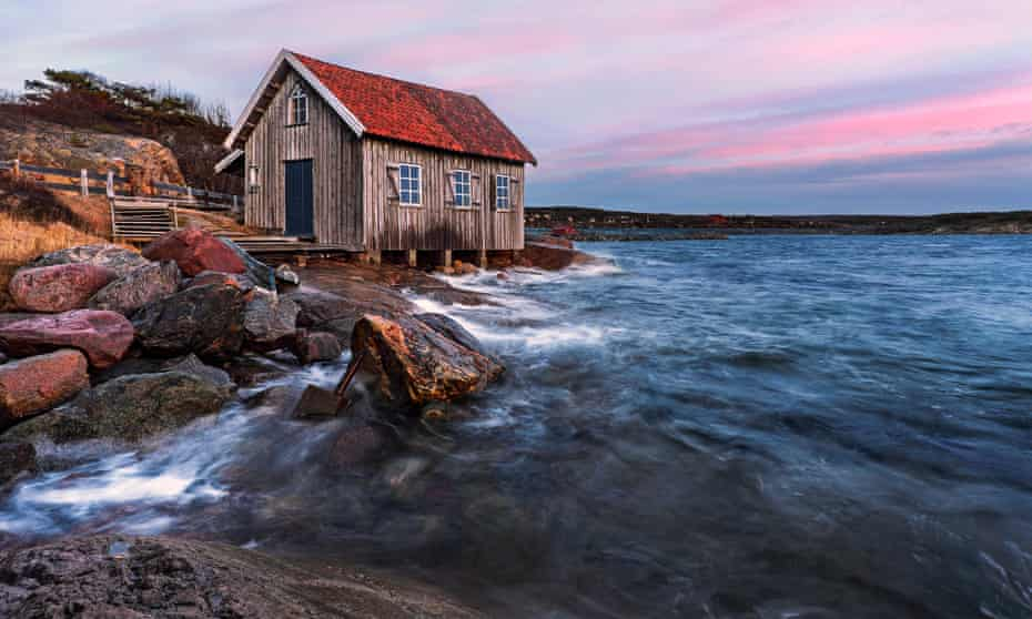 A fisherman's house on Sweden's Baltic coast.