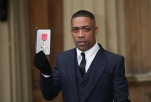 Wiley with his MBE for services to music