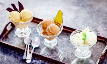 Avocado ice-cream <em>(far right)</em>