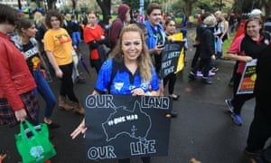 Activists gather for a peacful demonstration at Belmore Park in Sydney on Friday.
