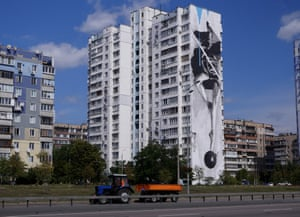 'Instability', by a Greek artist known as INO. The 50m-high image shows a ballerina dancing on a bomb. The explosion of street art the city is partly a result of young locals like the Mural Social Club and Art United Us, who arrange for international artists to visit and work in the city