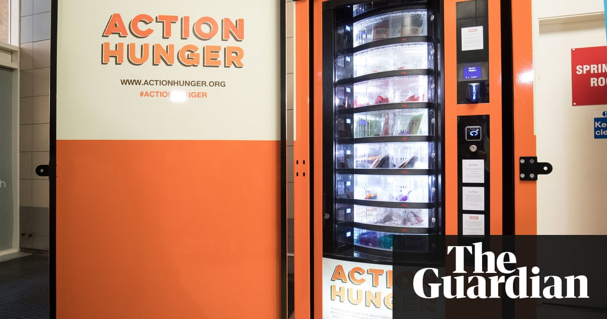 First vending machine for homeless people launches in uk society the first vending machine for the homeless set up by the charity action hunger in reheart Images