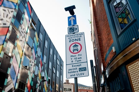 A sign in an ultra-low emission zone in east London