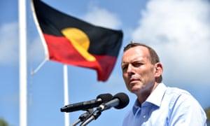 Tony Abbott on Thursday Island on Tuesday.