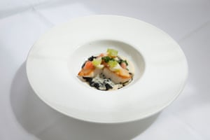 The scallops, a la chef Iain Smith, at 50 Cheyne Walk, Chelsea, London.