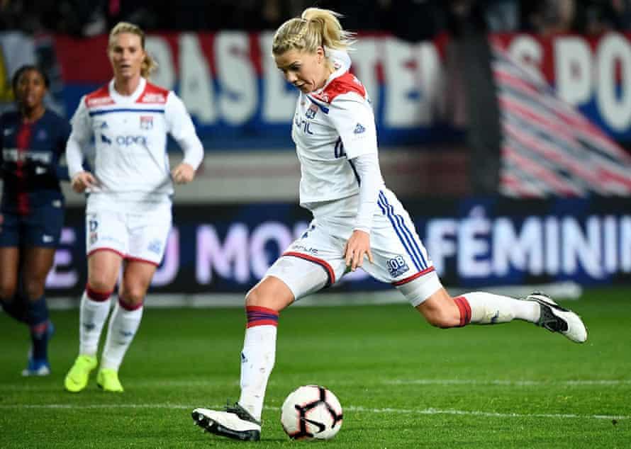 Ada Hegerberg in action for Lyon against PSG last month