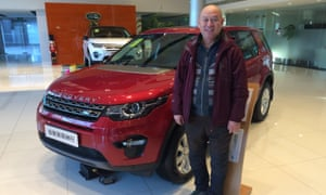 Chinese businessman Su Weiping celebrates the purchase of a £41,700 Discovery Sport - a present for his daughter.