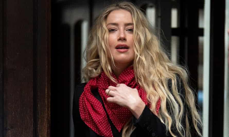 Amber Heard arrives at the high court on Thursday