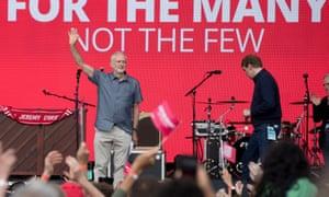 Jeremy Corbyn at Labour Live on Saturday.