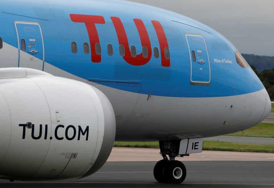 A Tui jet prepares to take off