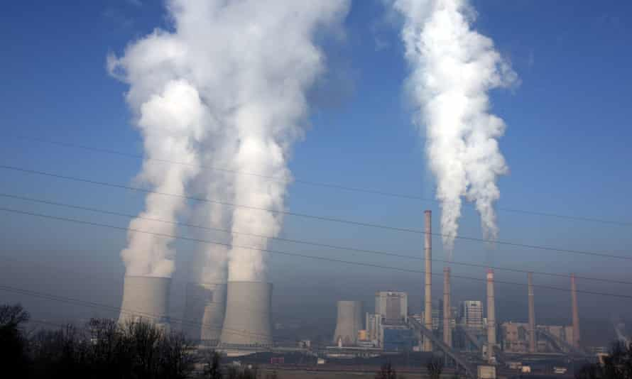 Steam rises from a coal-fired thermal power plant in Tuzla, Bosnia and Herzegovina.
