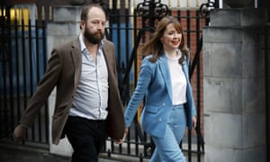 Theresa May's joint chiefs of staff Nick Timothy Fiona Hill leave the Conservative party headquarters in London.