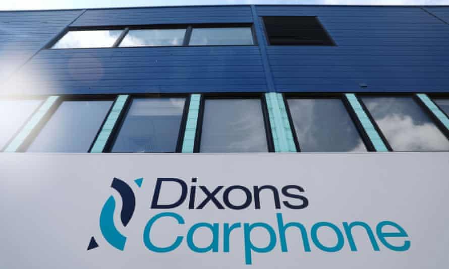 Dixons Carphone shop sign