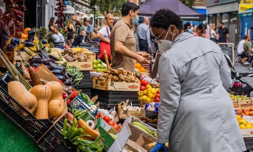 Hildreth Street market in Balham, south London