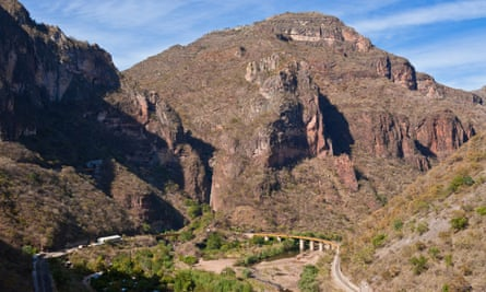 the railway line (El Chepe) from Los Mochis to Chihuahua, the last passenger train in Mexico