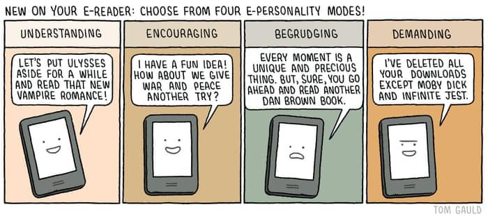 Tom Gauld on ebook intelligence – cartoon | Books | The Guardian