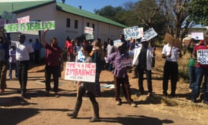 A picture sent from a 'peacful protests' the Victoria Falls region.