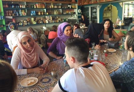 The conversations start at Muslim speed-dating in Moroccan Deli-cacy, in Brunswick East.