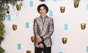 Polite traditionalism with silliness … Timothée Chalamet.