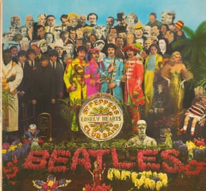 The Beatles' Sgt Pepper's Lonely Hearts Club Band album cover.