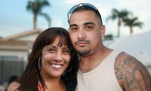 Theresa Smith with her son, Caesar Cruz.