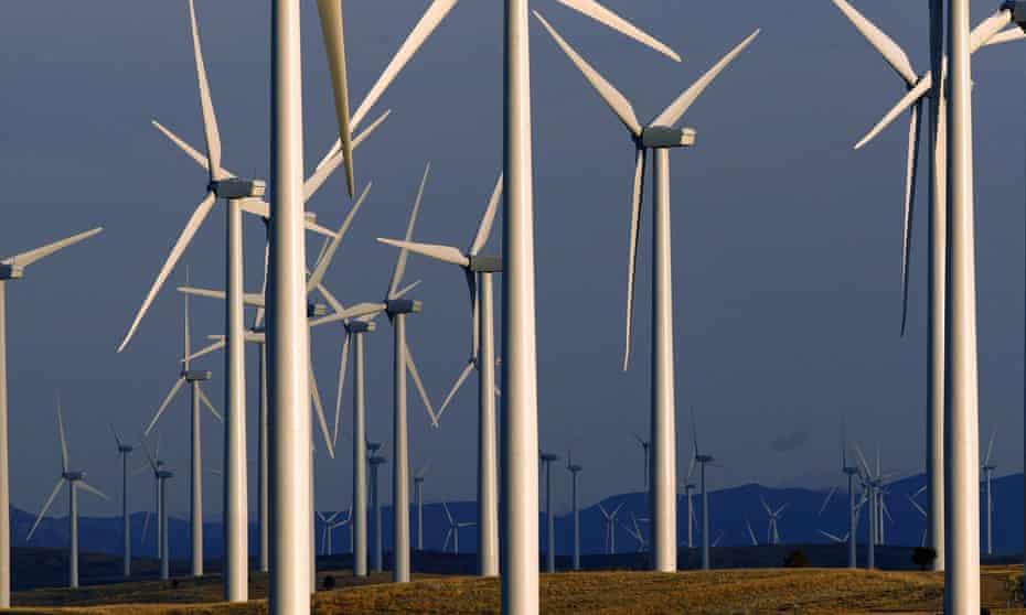 Wind turbines in Wyoming.