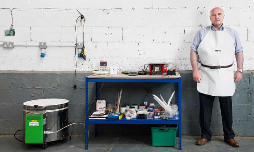 Art forger Shaun Greenhalgh in his studio