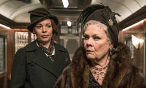 Dench with Olivia Colman in Murder on the Orient Express.