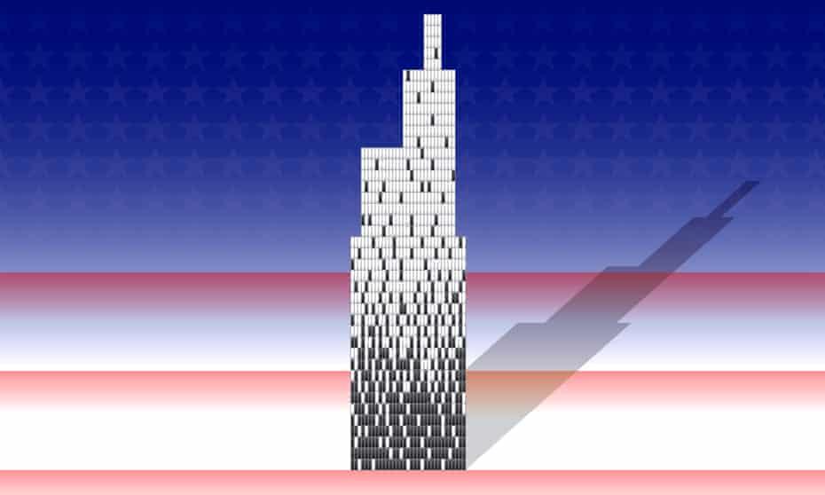 US diversity skyscraper illustration