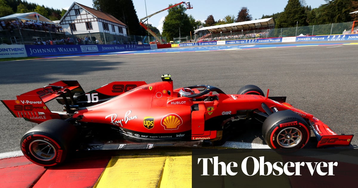 Charles Leclerc on Belgian F1 GP pole in Ferrari lockout with Vettel