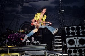 Eddie Van Halen of Van Halen performing in Jacksonville, Florida on January 18, 1984.