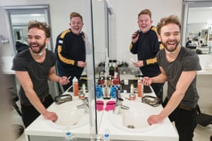 Jack P Shepherd, who plays David, and Colson Smith, who is Craig.