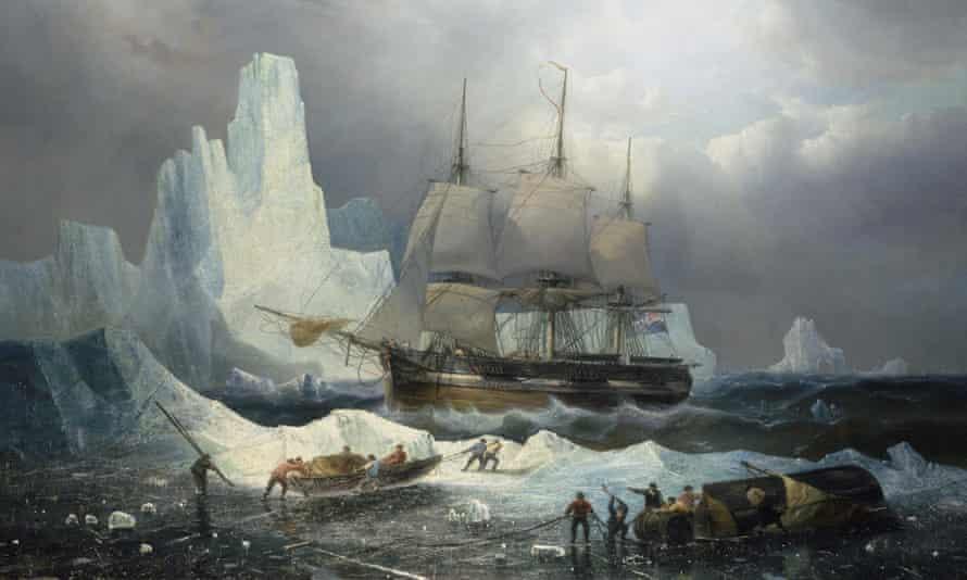 HMS Erebus in the Ice, 1846, by the Belgian marine artist François Etienne Musin.