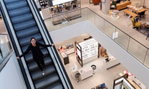 Paula Nickolds, managing director of John Lewis, inside the company's new Oxford store.