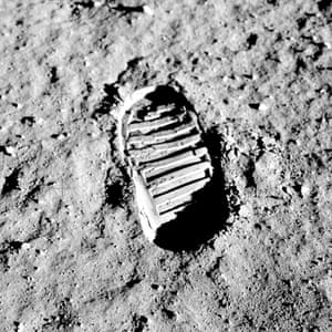 It's not just impact craters that disturb the moon's surface as this photograph of a boot-print from the Apollo 11 mission shows. The moon is almost entirely covered by regolith, a fine-grained soil made by the cumulative impacts of meteorites over millions of years. Astronaut boot-prints show that the upper regolith is easily compressed because it is highly porous, although there has been a longstanding debate since the 1960s about exactly how porous it is.