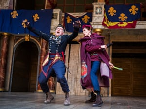 Colin Hurley and Steffan Donnelly in Henry V or Harry England