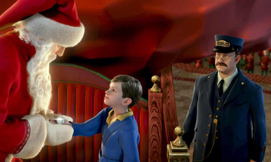 """IMAGINARY ACTINGShown in this photo released by Warner Bros. Pictures, is a still from company's new film """"Polar Express,"""" in which actor Tom Hanks performs all three characters. Hanks used experimental technology to morph into a little boy, a train conductor, a hobo and Santa Claus (father christmas) for the new computer animated Christmas adventure. (AP Photo/Warner Bros. Pictures)"""