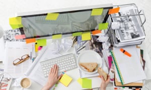 Messy desk? A 2013 study by the University of Minnesota found disorderly environments inspire breaking free of tradition.