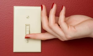 Flicking a light switch