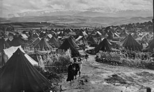 Paestinian refugee camp in Lebanon, pictured in 1952
