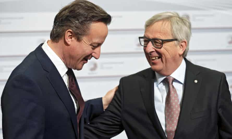 David Cameron, Jean-Claude Juncker