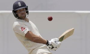 Dawid Malan avoids a ball from Australia's Pat Cummins during the final day of the Ashes Test match in Perth.